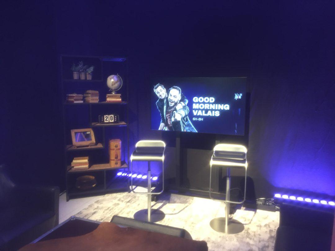 Mise en lumière et boite noire de l'Espace Kurt Hediger chez Rhône FM