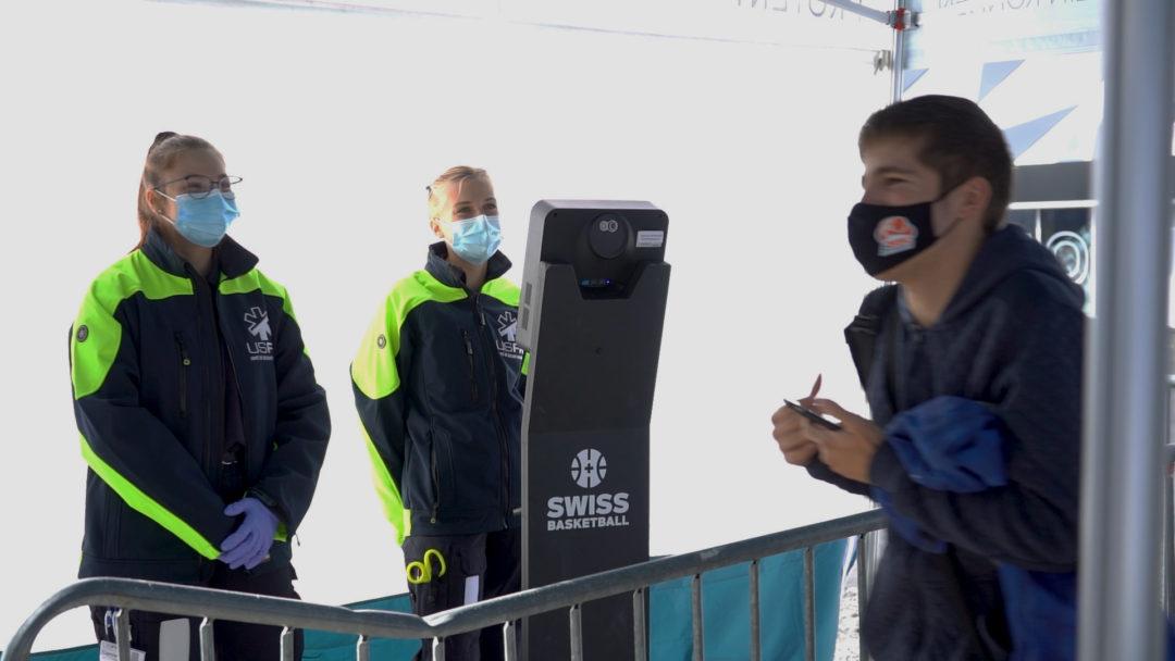 Thermomètre pour Event à la Super Cup 2020 #swissbasketball