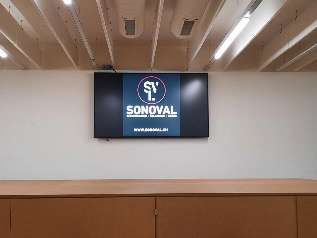 Installation Vidéo dans les salles du Sacré-Coeur de Sion
